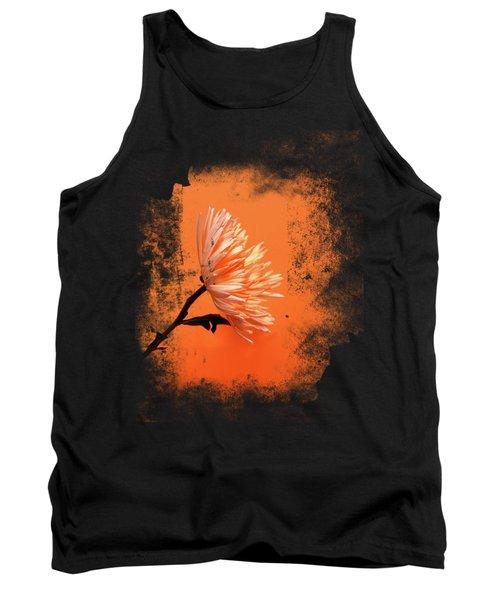 Chrysanthemum Orange Tank Top by Mark Rogan