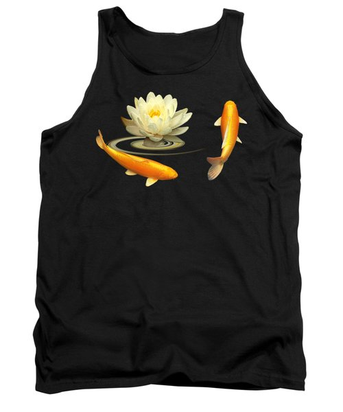 Circle Of Life - Koi Carp With Water Lily Tank Top