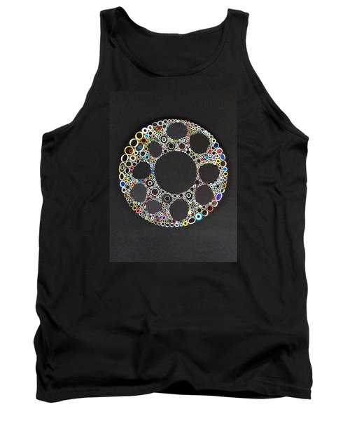 Tank Top featuring the mixed media Circular Convergence Of Mutated Molecules by Douglas Fromm