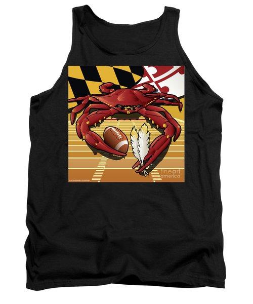 Citizen Crab Redskin, Maryland Crab Celebrating Washington Redskins Football Tank Top
