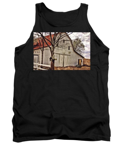 Tank Top featuring the photograph City Barn by Joan Bertucci