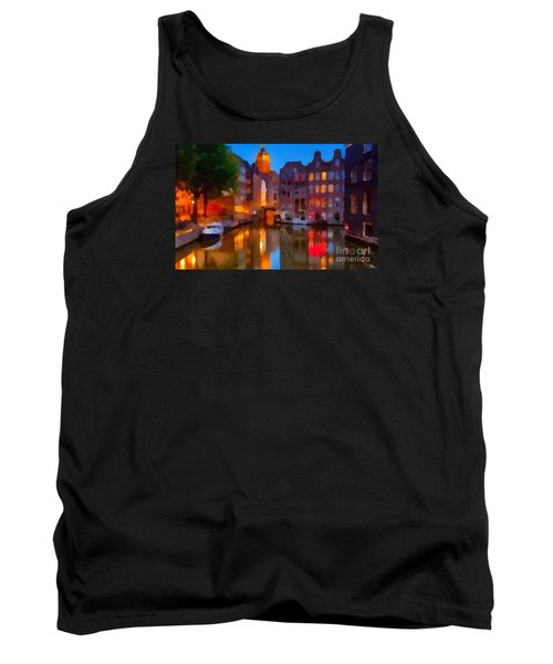 City Block 900 Soft And Dreamy In Thick Paint Tank Top by Catherine Lott