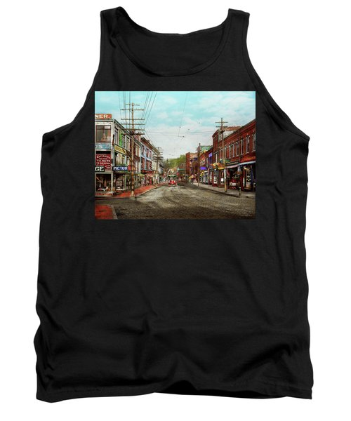 Tank Top featuring the photograph City - Ma Glouster - A Little Bit Of Everything 1910 by Mike Savad