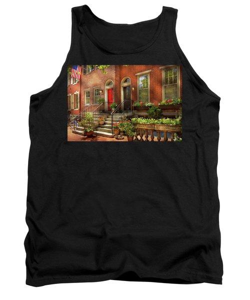 Tank Top featuring the photograph City - Pa Philadelphia - Pretty Philadelphia by Mike Savad