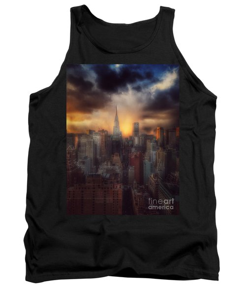 City Splendor - Sunset In New York Tank Top by Miriam Danar