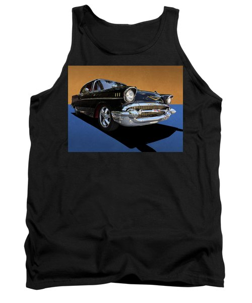 Classic Black Chevy Bel Air With Gold Trim Tank Top