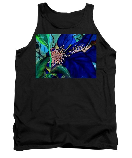 Clematis Regal In Purple And Blue Sold Tank Top
