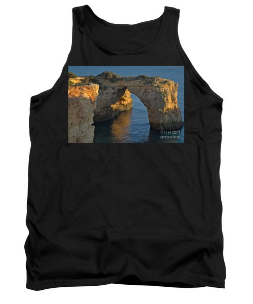 Cliff Arch In Albandeira Beach During Sunset 2 Tank Top by Angelo DeVal