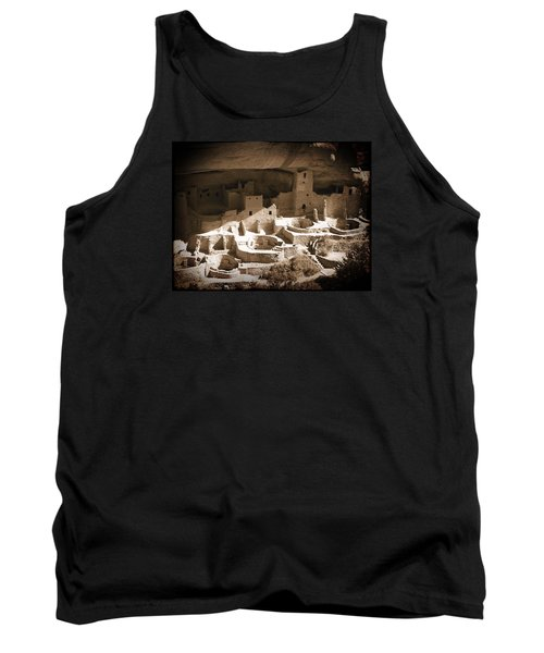 Tank Top featuring the photograph Cliff Palace Mesa Verde by Kurt Van Wagner
