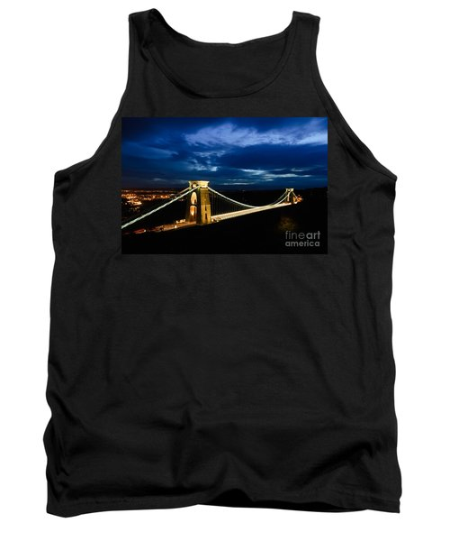 Tank Top featuring the photograph Clifton Suspension Bridge, Bristol. by Colin Rayner