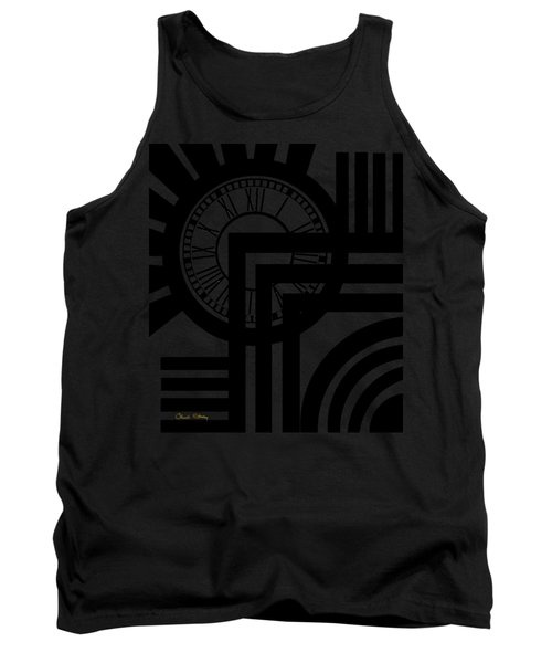 Clock Design Vertical Tank Top