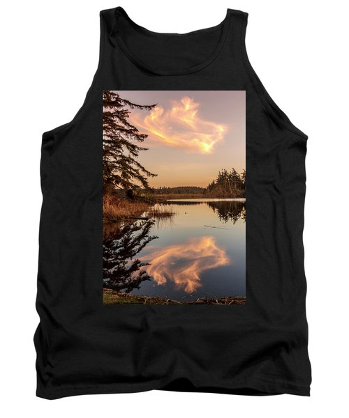Cloud On Cranberry Lake Tank Top by Tony Locke