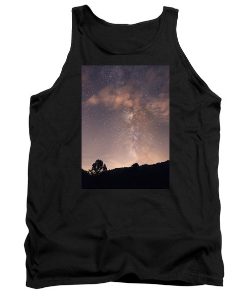 Tank Top featuring the photograph Clouds And Milky Way by Wanda Krack