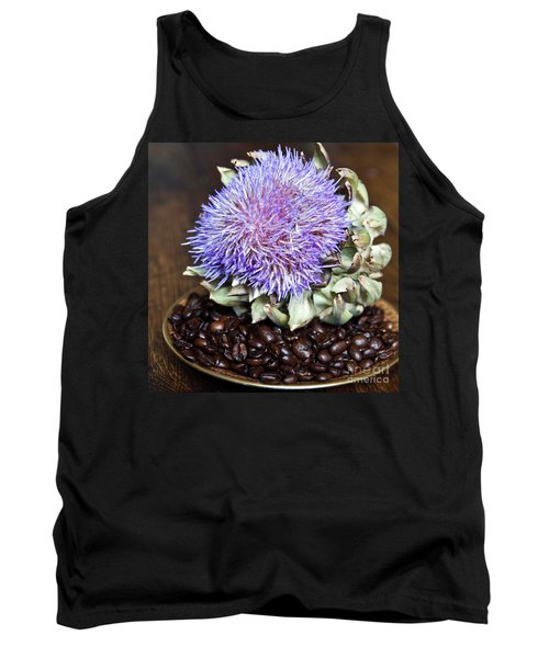 Coffee Beans And Blue Artichoke Tank Top