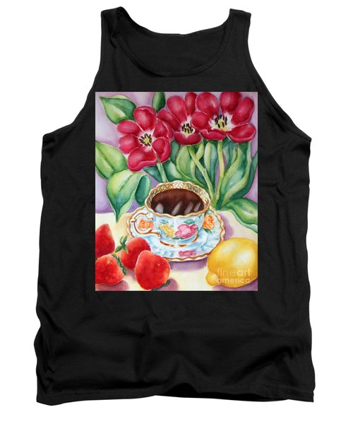 Coffee With Flavour Tank Top by Inese Poga