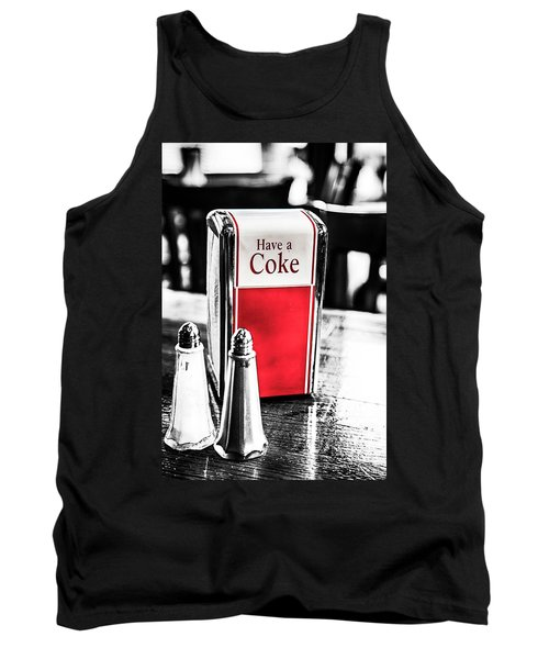 Tank Top featuring the photograph Coke Napkins by Karol Livote