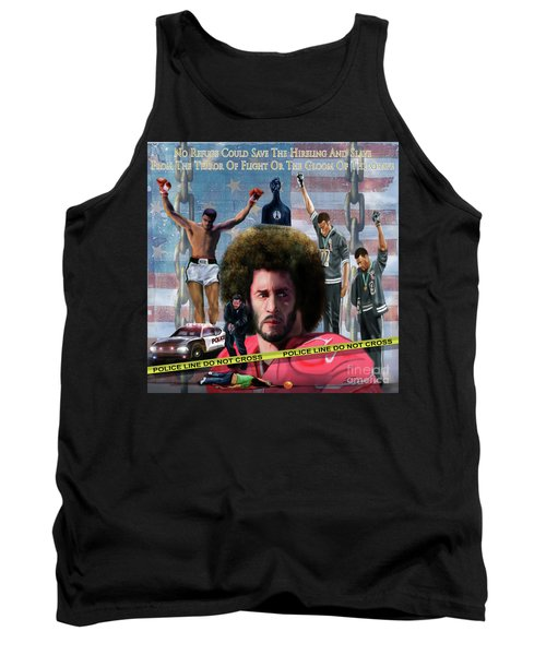 Colin Kaepernick Amongst The Brave Few 2a Tank Top