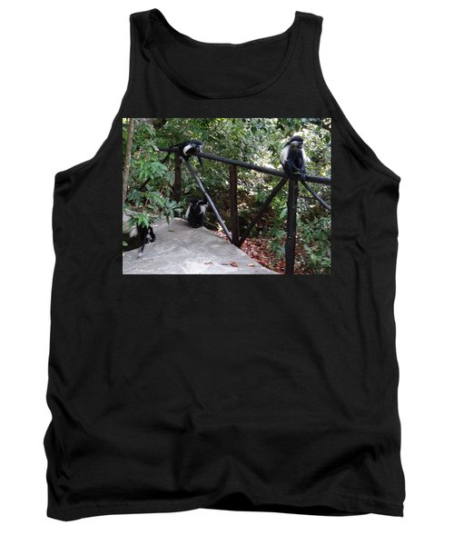 Colobus Monkeys At Sands Chale Island Tank Top