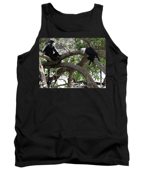 Colobus Monkeys Sitting In A Tree Tank Top