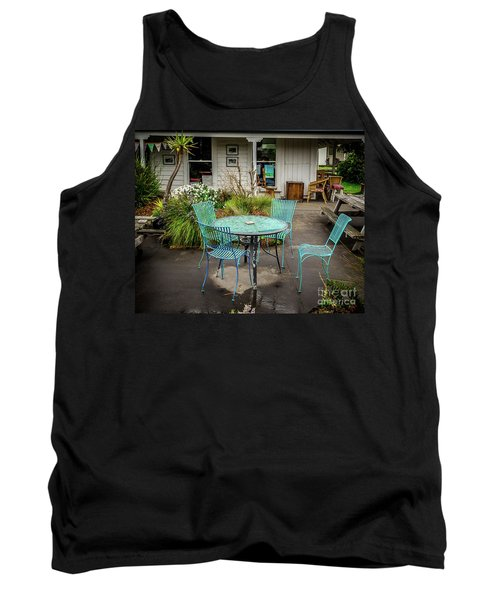 Tank Top featuring the photograph Color At Cafe by Perry Webster