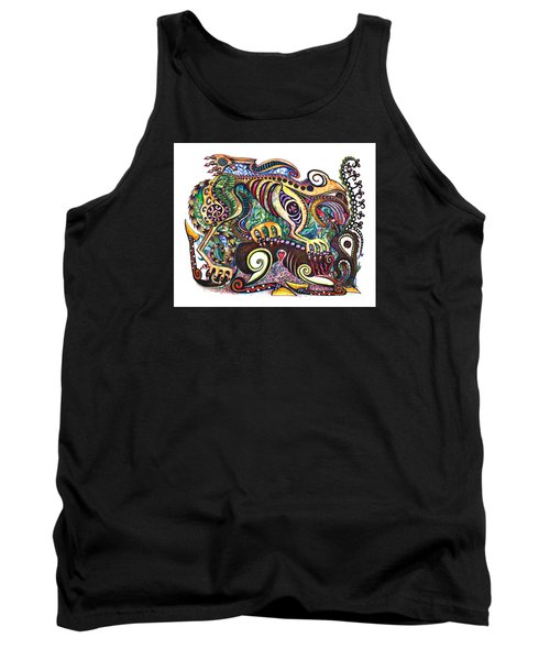 Colored Cultural Zoo D Version 2 Tank Top
