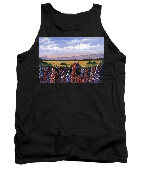 Tank Top featuring the painting Colorful Afternoon by Anastasiya Malakhova