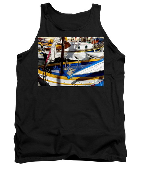 Colorful Boats Tank Top by Lainie Wrightson