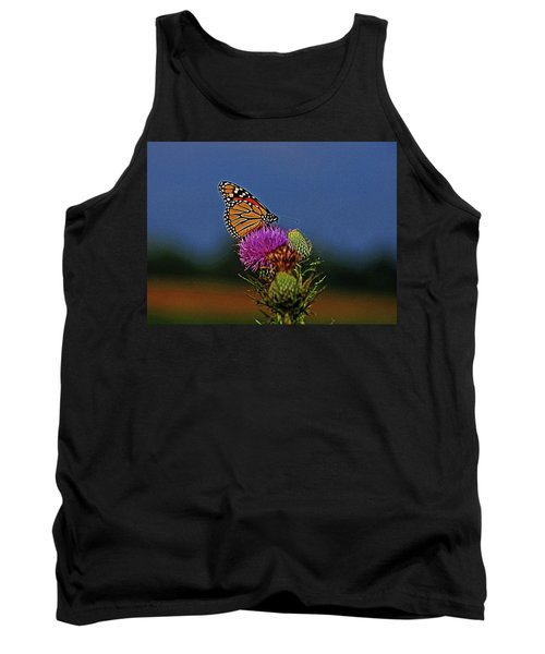 Tank Top featuring the photograph Colorful Monarch by Sandy Keeton