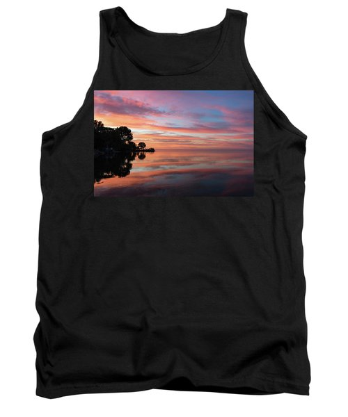 Colorful Morning Mirror - Spectacular Sky Reflections At Dawn Tank Top