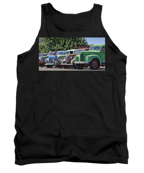 Colorful Old Rusty Cars Tank Top