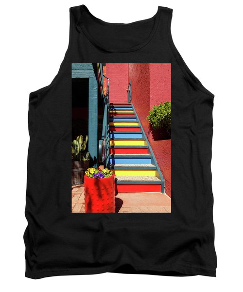 Tank Top featuring the photograph Colorful Stairs by James Eddy