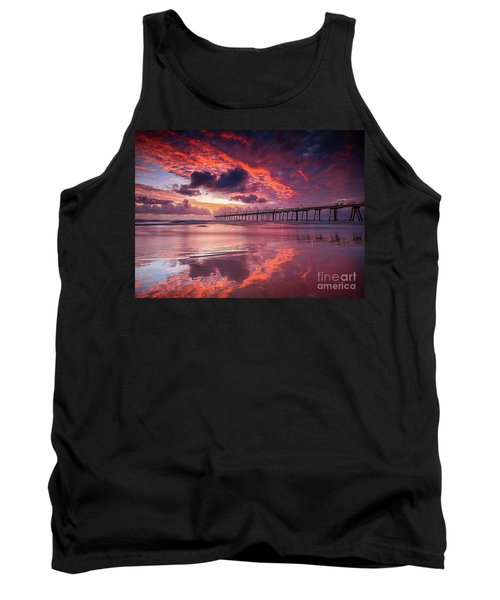 Colorful Sunrise Tank Top by Rod Jellison