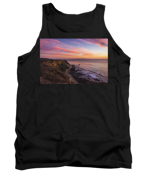 Colorful Sunset At Golden Cove Tank Top