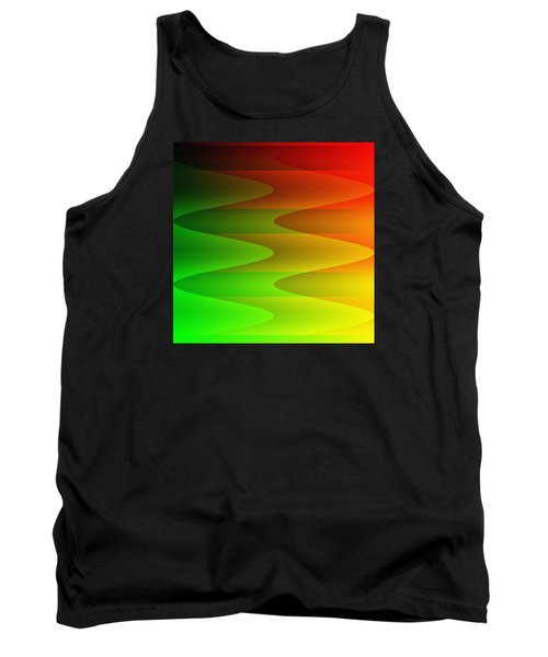 Tank Top featuring the digital art Colorful Waves by Kathleen Sartoris