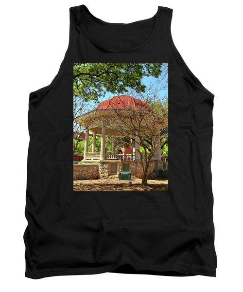 Comal County Gazebo In Main Plaza Tank Top by Judy Vincent