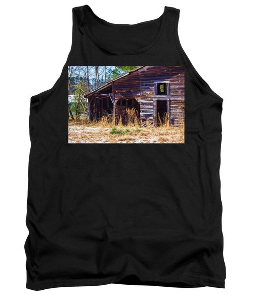 Coming Apart With Character Barn Tank Top