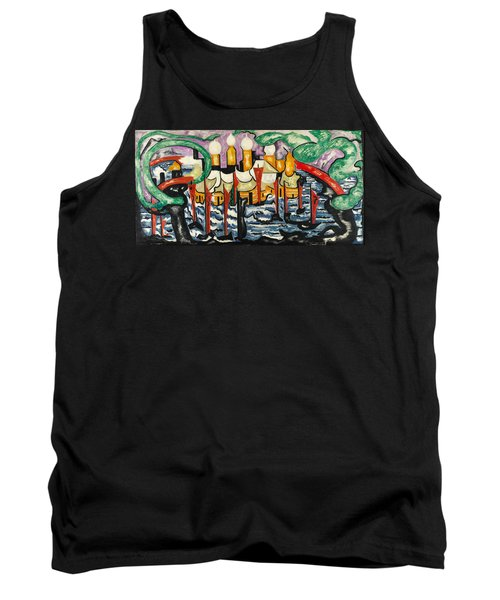 Tank Top featuring the painting Composition No.62 by Jacoba van Heemskerck