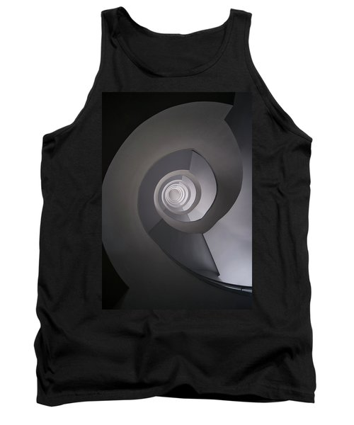 Tank Top featuring the photograph Concrete Abstract Spiral Staircase by Jaroslaw Blaminsky