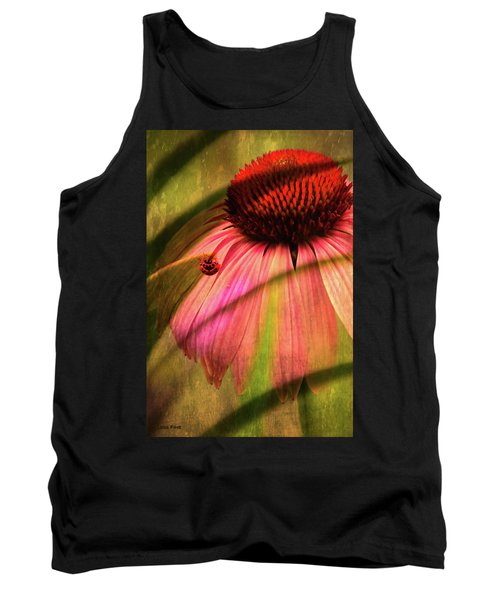 Cone Flower And The Ladybug Tank Top