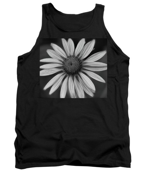 Coneflower In Black And White Tank Top