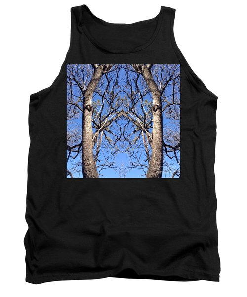 Conjoined Tree Collage Tank Top