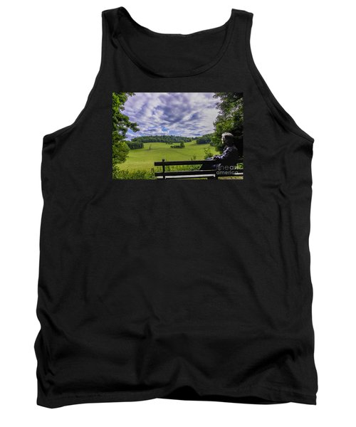 Contemplating The Beautiful Scenery Tank Top