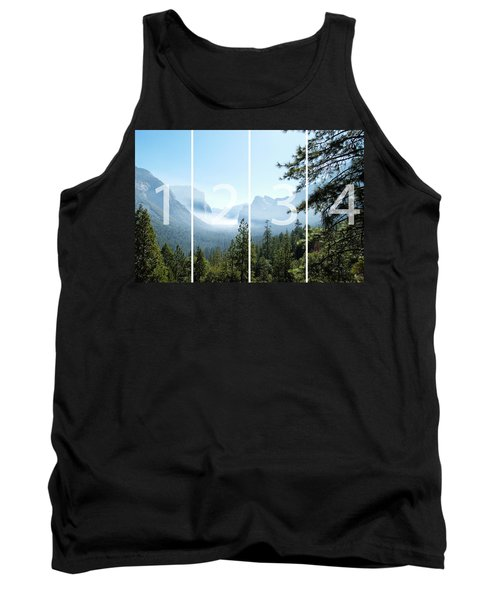 Controlled Burn Of Yosemite Panoramic Map Tank Top by Michael Bessler
