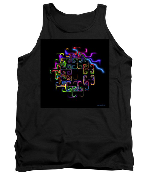 Tank Top featuring the digital art Conundrum by Judi Suni Hall