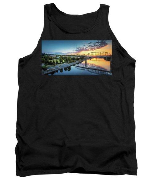 Coolidge Park Sunrise Panoramic Tank Top by Steven Llorca