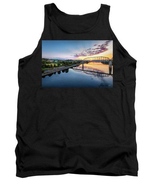 Coolidge Park Sunrise Tank Top by Steven Llorca