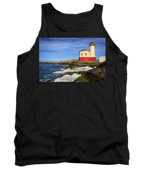Coquille River Lighthouse At Bandon Tank Top