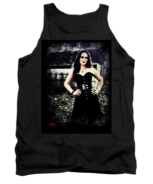 Tank Top featuring the digital art Corinne 1 by Mark Baranowski