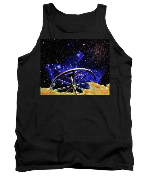 Tank Top featuring the photograph Cosmic Wheel by Jim and Emily Bush