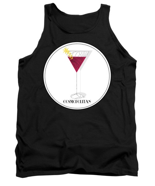 Cosmopolitan Cocktail Pop Art Deco  Tank Top
